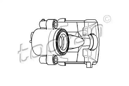 Суппорт тормозной передний правый на SKODA OCTAVIA A5 'TOPRAN 110 282'.
