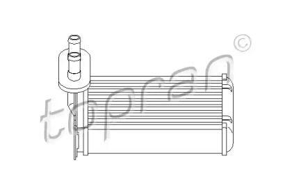 Радиатор печки на Сеат Толедо 'TOPRAN 103 147'.