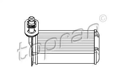 Радиатор печки на Сеат Толедо 'TOPRAN 109 304'.