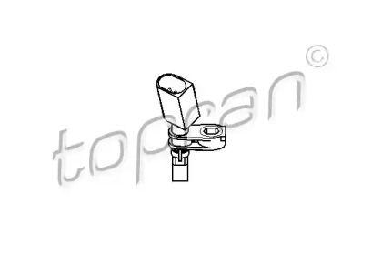 Датчик АБС передній лівий TOPRAN 110 609.