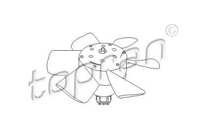 Вентилятор охлаждения радиатора на VOLKSWAGEN PASSAT 'TOPRAN 102 547'.
