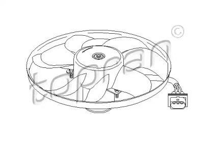 Вентилятор охлаждения радиатора на SEAT LEON 'TOPRAN 107 704'.