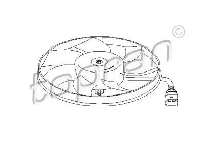 Вентилятор охлаждения радиатора на Шкода Октавия А5 'TOPRAN 111 284'.