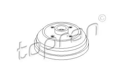 Задний тормозной барабан TOPRAN 205 485.