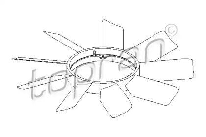 Крильчатка вентилятора охолодження двигуна TOPRAN 401 467.