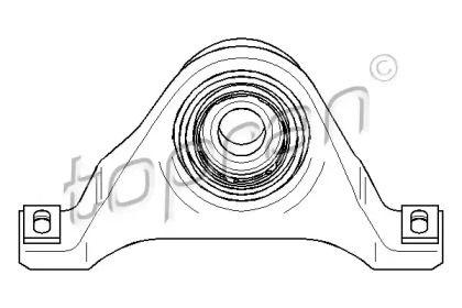 Підвісний підшипник карданного валу на Mercedes-Benz W210 TOPRAN 400 082.