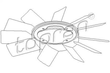Крильчатка вентилятора охолодження двигуна 'TOPRAN 500 903'.