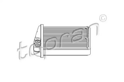 Радиатор печки на SKODA OCTAVIA A5 'TOPRAN 112 416'.