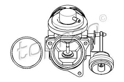 Клапан ЄГР (EGR) TOPRAN 112 962.
