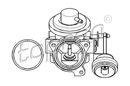 Клапан ЄГР (EGR) TOPRAN 113 162.