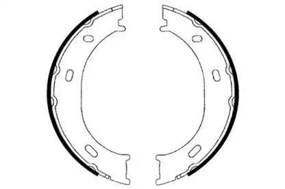 Тормозные колодки ручника 'E.T.F. 09-0574'.