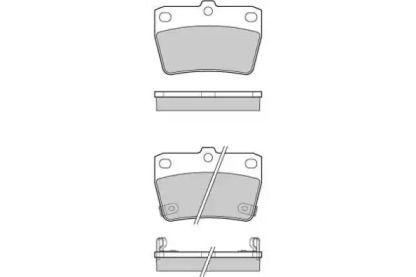 Задние тормозные колодки 'E.T.F. 12-1050'.