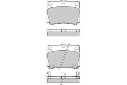 Передние тормозные колодки 'E.T.F. 12-1057'.