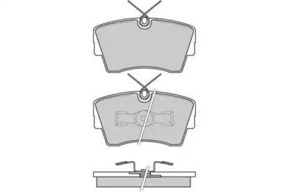 Передние тормозные колодки 'E.T.F. 12-0472'.