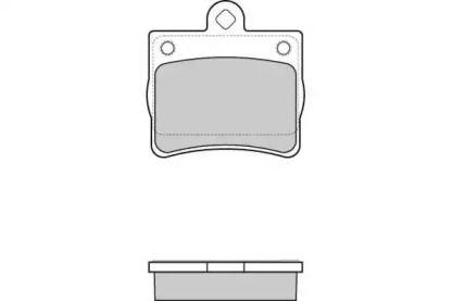Задні гальмівні колодки 'E.T.F. 12-0771'.