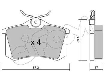 Тормозные колодки на SEAT ALTEA 'CIFAM 822-100-1'.