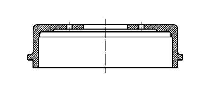 Тормозной барабан на CITROEN ZX CIFAM 700-233.