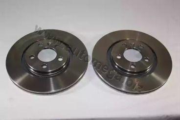 Вентилируемый передний тормозной диск 'DELLO 120015710'.