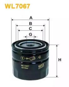 Масляний фільтр 'WIX FILTERS WL7067'.