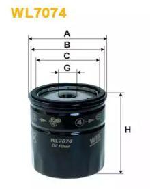 Масляний фільтр на ALFA ROMEO 166 'WIX FILTERS WL7074'.