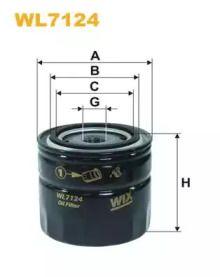 Масляний фільтр WIX FILTERS WL7124.