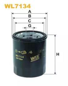 Масляний фільтр на MAZDA MX-3 'WIX FILTERS WL7134'.