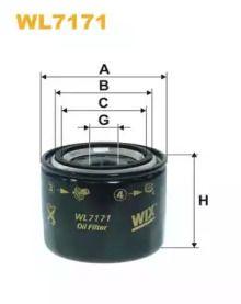 Масляний фільтр на Мазда СХ7 WIX FILTERS WL7171.