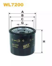 Масляний фільтр на Мазда Деміо 'WIX FILTERS WL7200'.