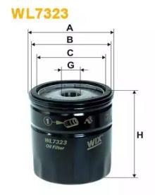 Масляний фільтр на Мазда СХ7 WIX FILTERS WL7323.