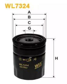 Масляний фільтр на Альфа Ромео 166 'WIX FILTERS WL7324'.