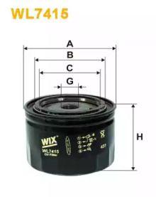 Масляний фільтр 'WIX FILTERS WL7415'.