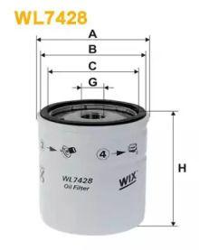 Масляный фильтр 'WIX FILTERS WL7428'.