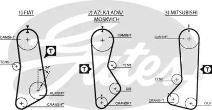 Ремень ГРМ 'GATES 5002'.