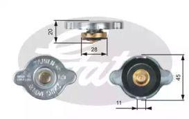 Кришка радіатора на Мазда МХ5 'GATES RC124'.
