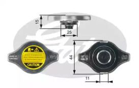 Кришка радіатора на MITSUBISHI CARISMA GATES RC127.