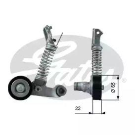 Натяжний ролик ременя генератора на Mercedes-Benz GLA  GATES T39373.