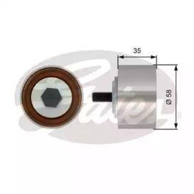 Обводной ролик ГРМ на CHRYSLER PT CRUISER 'GATES T42121'.