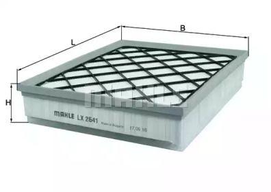 Воздушный фильтр MAHLE LX 2641.