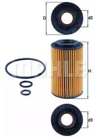 Масляний фільтр 'KNECHT OX 153/7D2'.