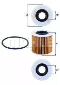 Масляный фильтр на Лексус Лс KNECHT OX 414D2.