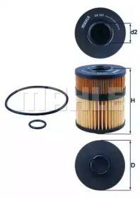 Масляный фильтр 'KNECHT OX 563D'.
