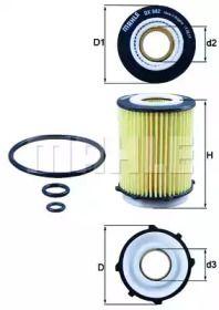 Масляний фільтр KNECHT OX 982D.