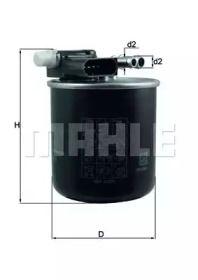 Паливний фільтр на Мерседес ГЛЕ  MAHLE KL 911.