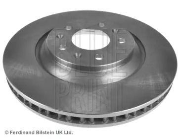Вентилируемый передний тормозной диск на CADILLAC CTS 'BLUE PRINT ADA104345'.
