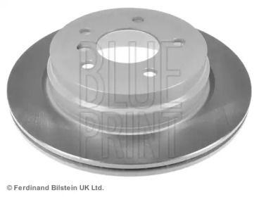 Вентилируемый задний тормозной диск на BMW X1 'BLUE PRINT ADB114309'.