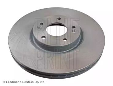 Вентилируемый передний тормозной диск на HYUNDAI IX55 'BLUE PRINT ADG043122'.