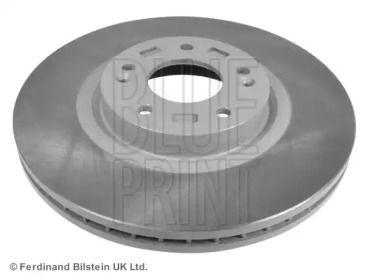 Вентилируемый передний тормозной диск на HYUNDAI GRAND SANTA FE 'BLUE PRINT ADG043157'.