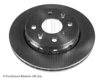 Вентилируемый передний тормозной диск на KIA SHUMA 'BLUE PRINT ADG04342'.