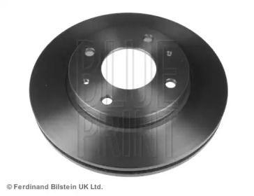 Вентилируемый передний тормозной диск на HYUNDAI LANTRA 'BLUE PRINT ADG04347'.