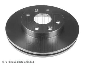 Вентилируемый передний тормозной диск на KIA RIO 'BLUE PRINT ADG04353'.